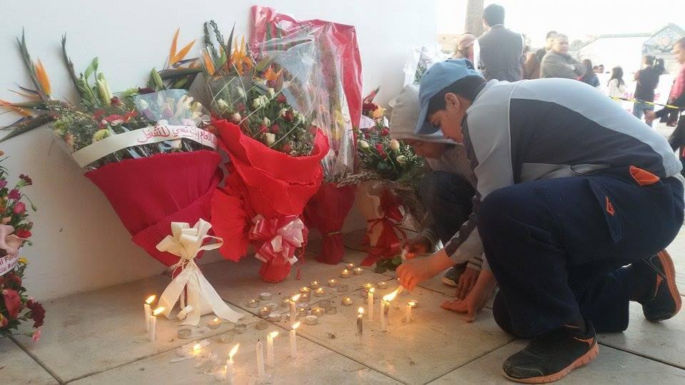 Hommage aux victimes de l'attentat au Bardo 19 mars 2015  Crédit photo Giada Frana