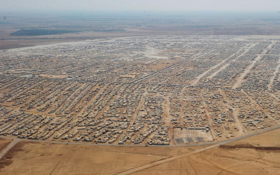 Campo profughi Zaatari in Giordania crédit photo: Cronacheinternazionali.com
