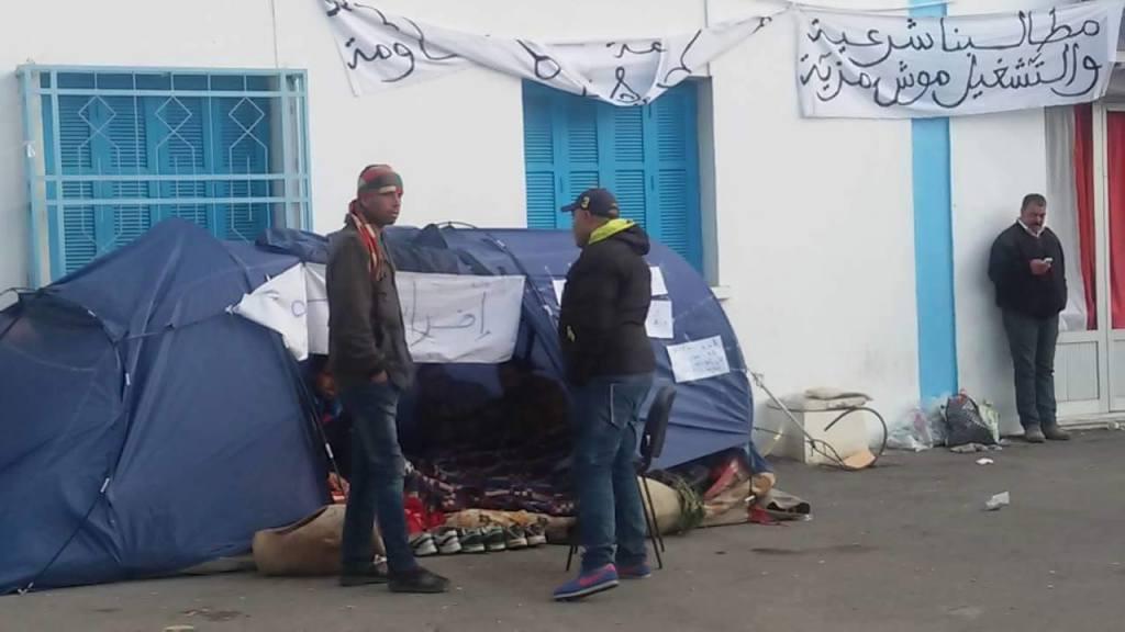 La tenda dello sciopero della fame Crédit photo: Giada Frana