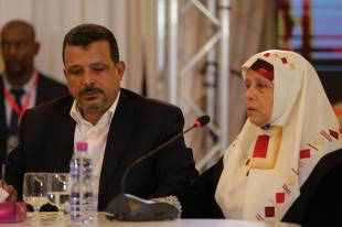 Jamel Baraket e sua madre Khira testimoniano sull'rapimento e  Crédit photo IVD Media Center