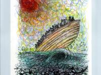 Mare spinato disegno di Francesco Piobbichi