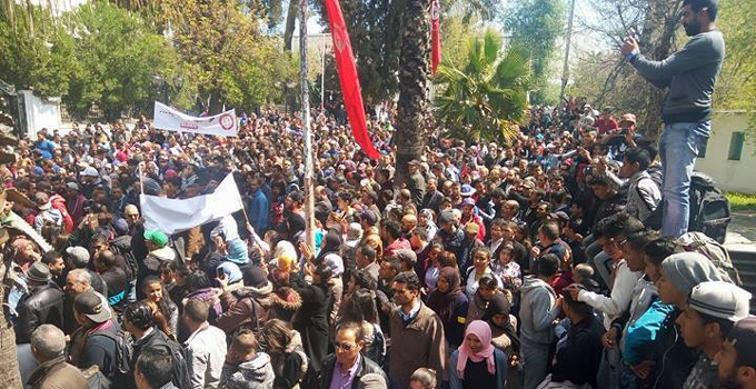 Manifestazione a  El Kef Crédit photo. Nawaat.org