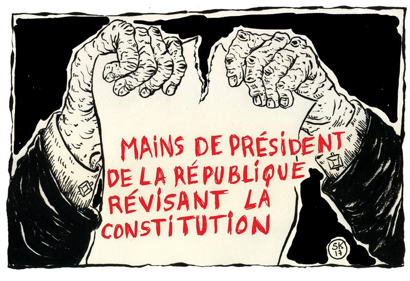 Sadri Khiari: mani del >presidente della Repubblica che rivedono la Costituzione Fonte: Nawaat.org